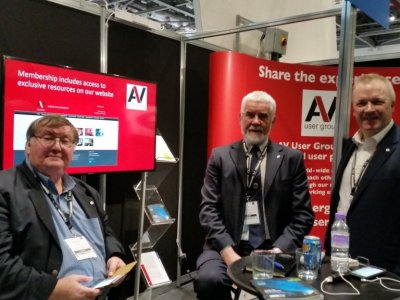 Managment committee members Stuart, Peter and Kevin on the BVE stand