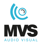 MVS Audio Visual Logo